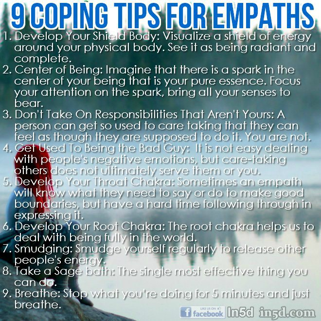 Coping tips for Empaths - Your Empath Destiny